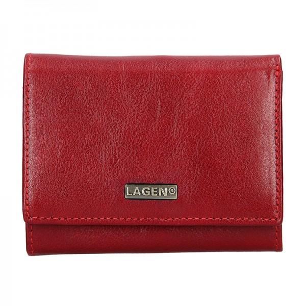 Dámská kožená peněženka Lagen Gina - červená
