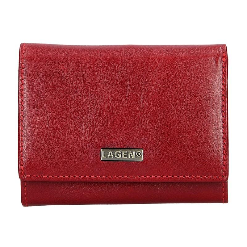 Dámská kožená peněženka Lagen Hadley - červená a42962e0d62
