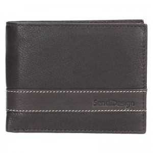 Pánská kožená peněženka SendiDesign 44 - hnědá