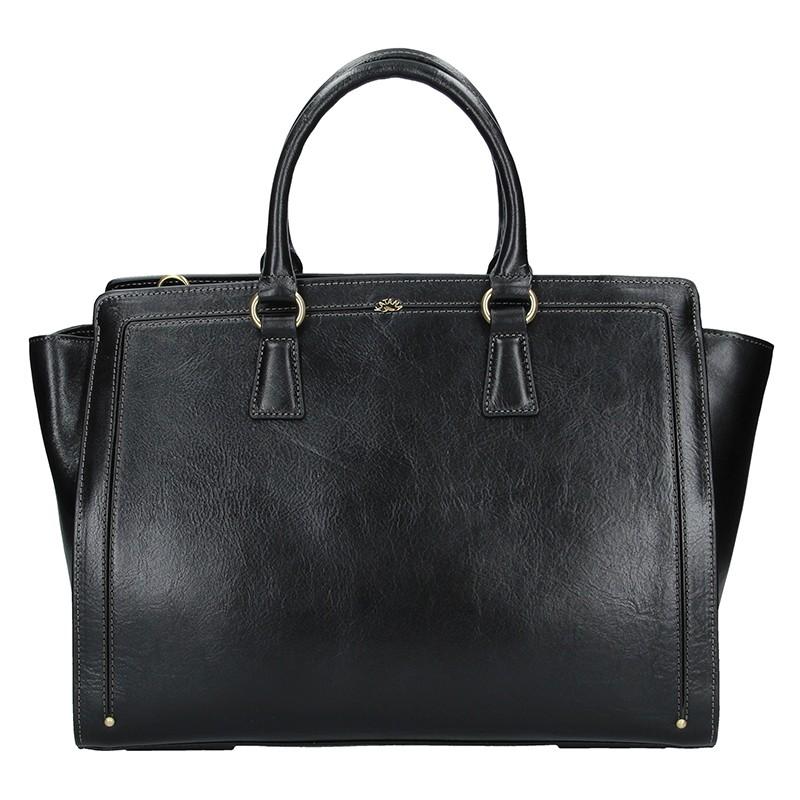 Elegantní dámská kožená kabelka Katana Nicol - černá