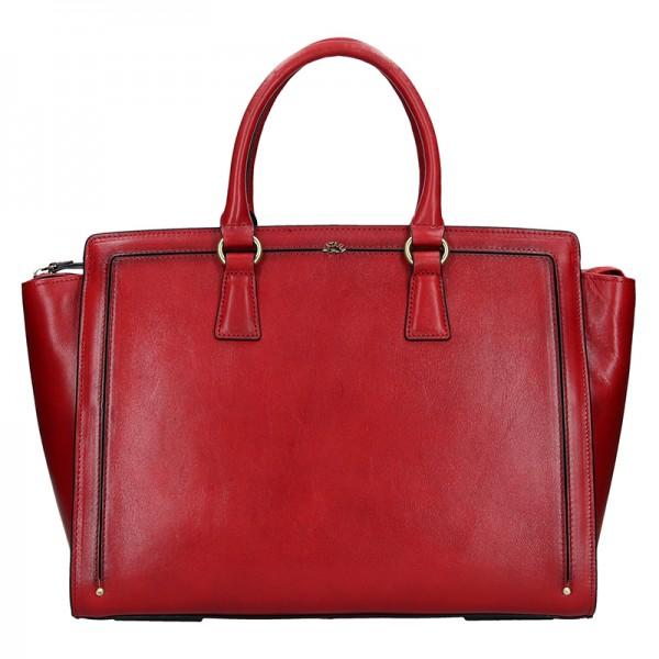 Elegantní dámská kožená kabelka Katana Nicol - hnědá