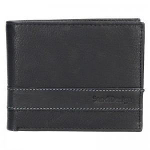 Pánská kožená peněženka SendiDesign 45 - černá