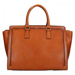 Elegantní dámská kožená kabelka Katana Nicol - tmavě červená