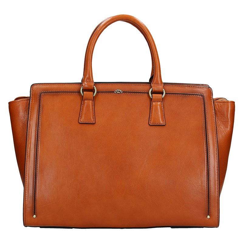 Elegantní dámská kožená kabelka Katana Nicol - světle hnědá 0ff13a14896