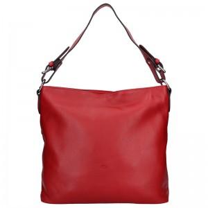 Elegantní dámská kožená kabelka Katana Olma - červená
