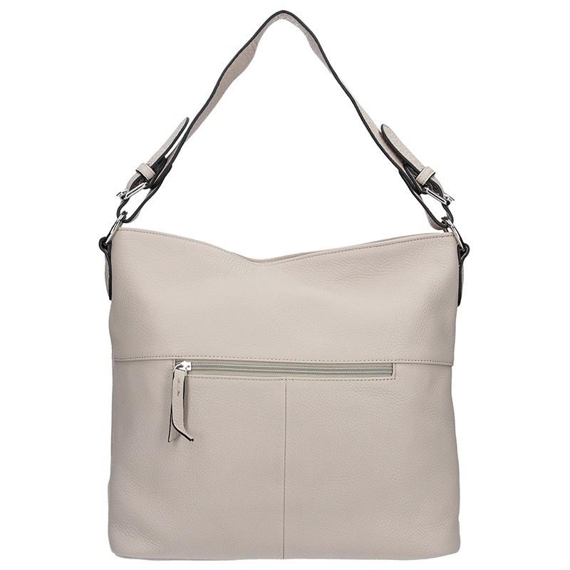 Elegantní dámská kožená kabelka Katana Olma - krémová