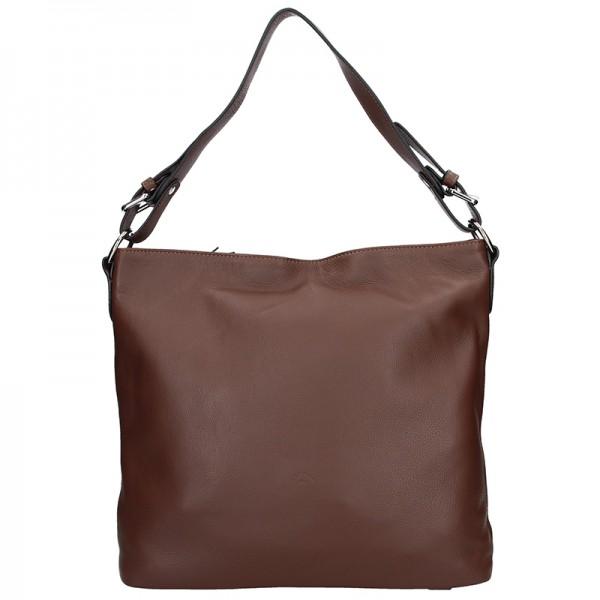 Elegantní dámská kožená kabelka Katana Olma - černá