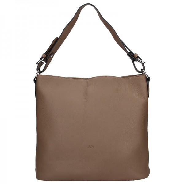 Elegantní dámská kožená kabelka Katana Olma - tmavě hnědá