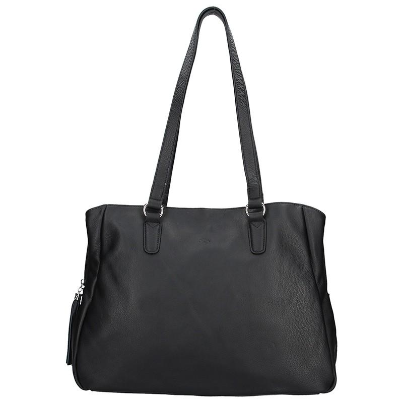 Elegantní dámská kožená kabelka Katana Marionet - černá