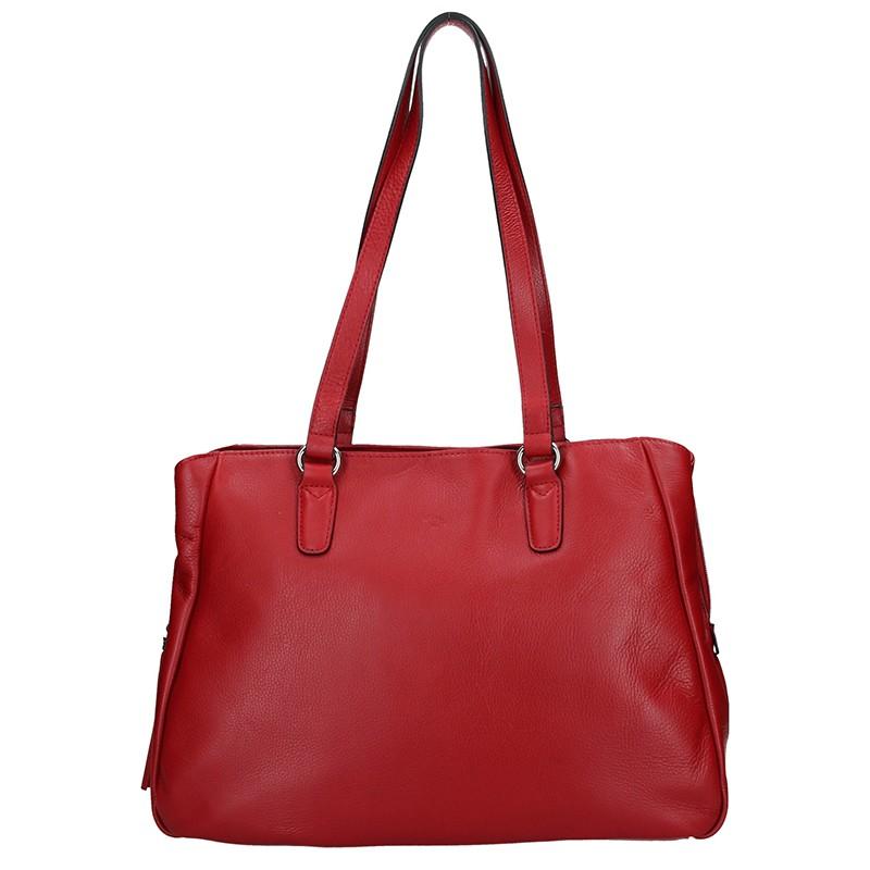 bb73ab9a08 Elegantní dámská kožená kabelka Katana Marionet - červená