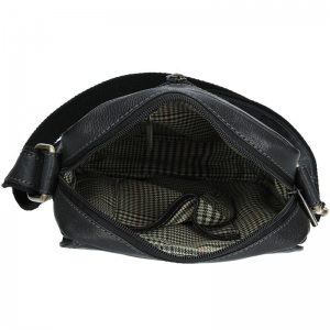 Pánská kožená taška přes rameno SendiDesign CT005 - černá