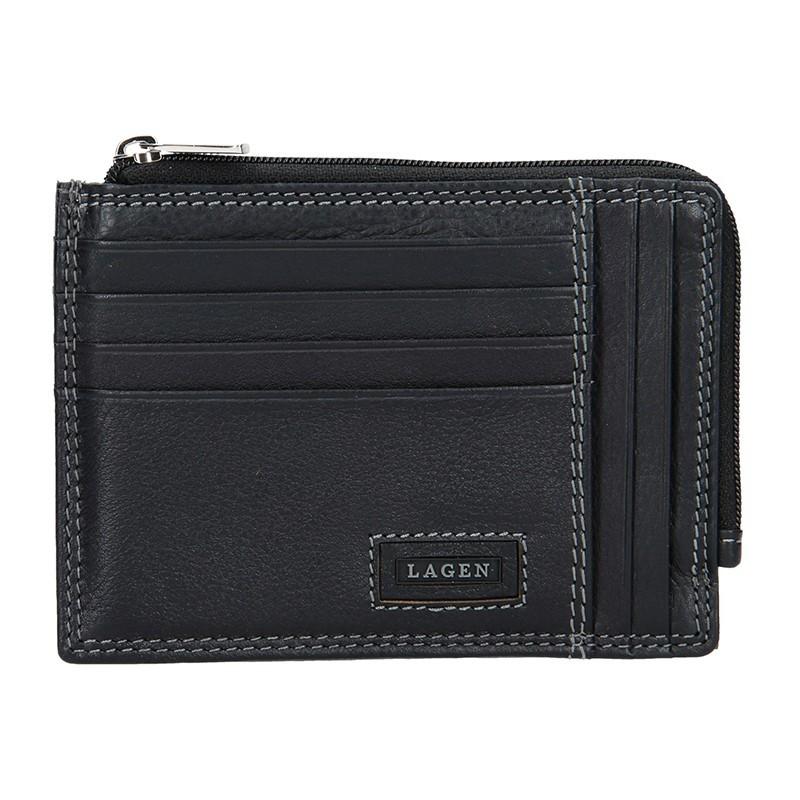 Pánská kožená slim peněženka Lagen Floyd - hnědá