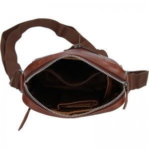 Pánská kožená taška přes rameno Lagen Moet - černá