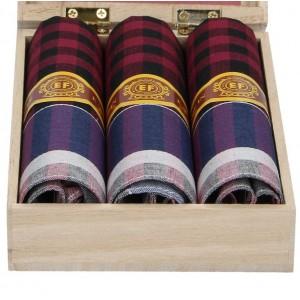 Pánské kapesníky v luxusní sadě ETEX Mina - černo-šedá