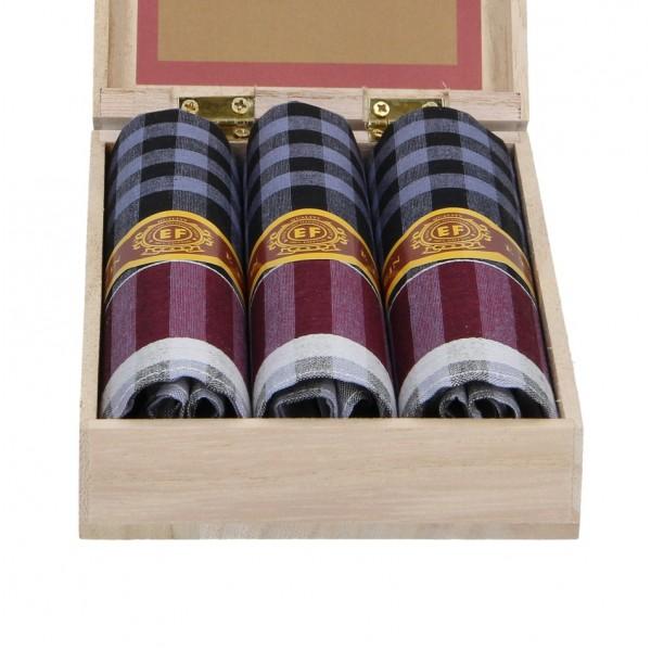 Pánské kapesníky v luxusní sadě ETEX Botan - modro-fialová