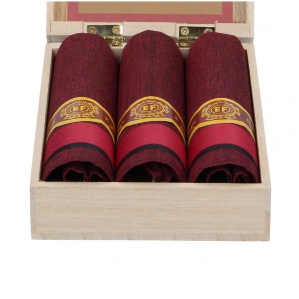 Pánské kapesníky v luxusní sadě ETEX Makoto - červená