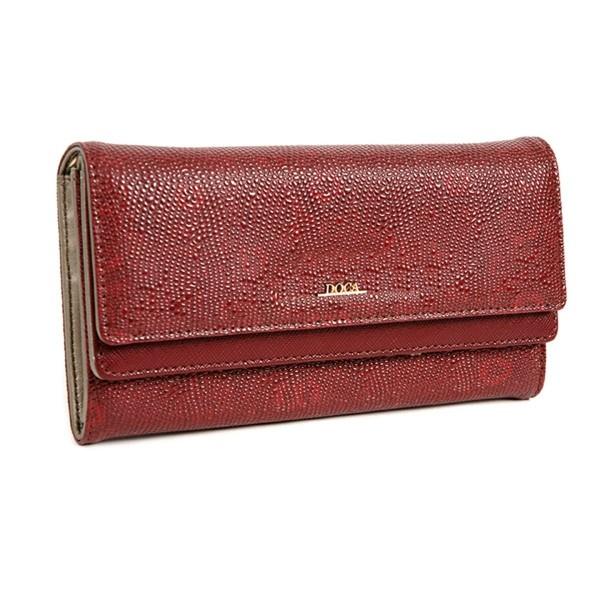Dámská peněženka Doca 64484 - vínová