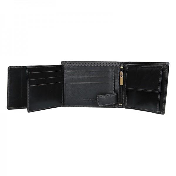 Pánská kožená peněženka SendiDesign Carlos - černá