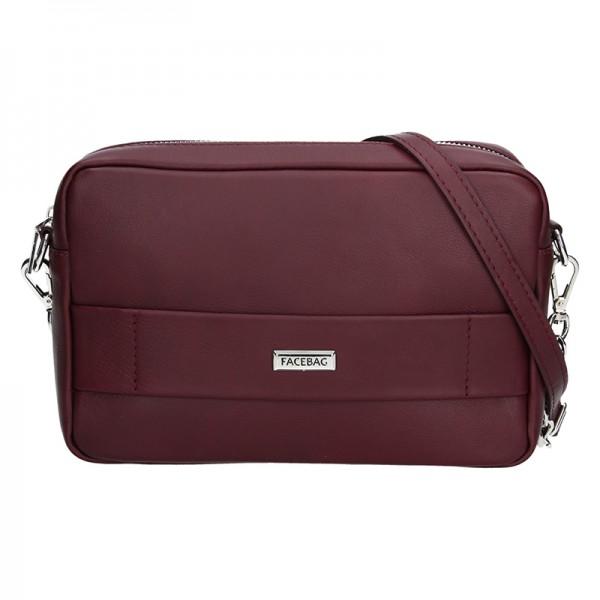 Trendy dámská kožená crossbody kabelka Facebag Nina - zlatá