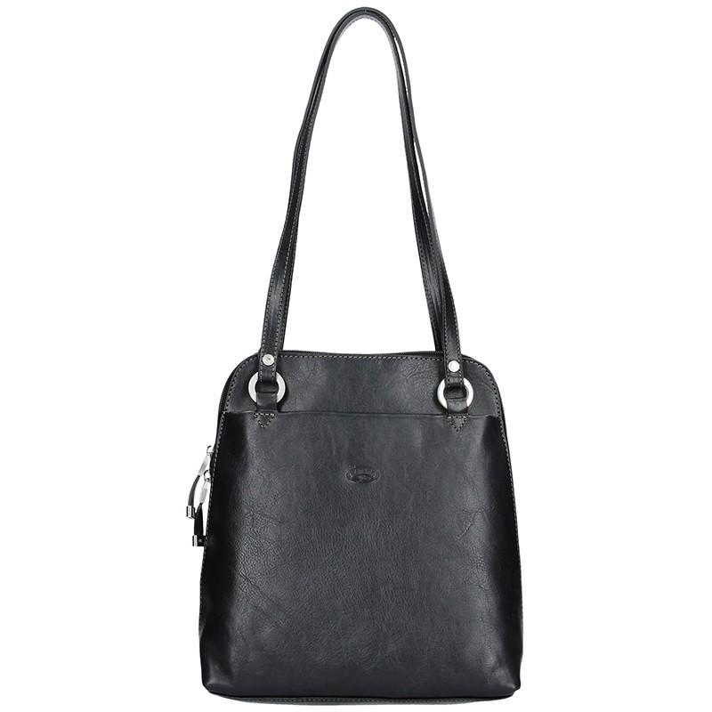 Dámská kožená batůžko kabelka Katana Cindy - červená