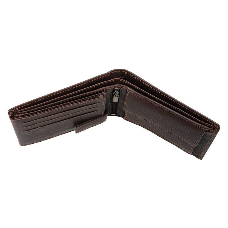 Panska kožená peňaženka SendiDesign Carlos - hnedá