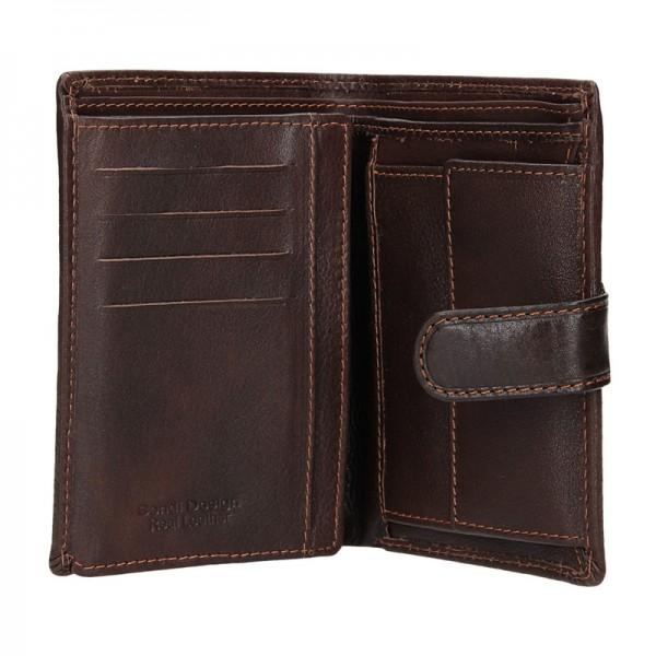 Pánská kožená peněženka SendiDesign Antonio - hnědá