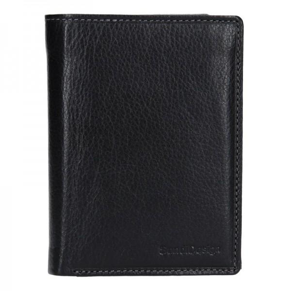 Pánská kožená peněženka SendiDesign Antonio - černá