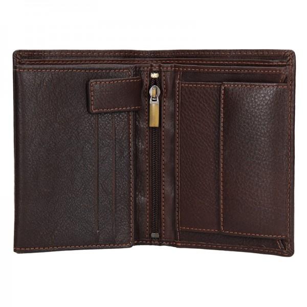 Pánská kožená peněženka SendiDesign Martin - hnědá