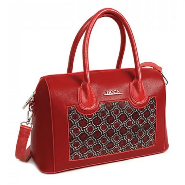 Dámská kabelka Doca 11633 - červená