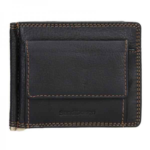 Pánská kožená dolarovka SendiDesign SNW6857 - černá