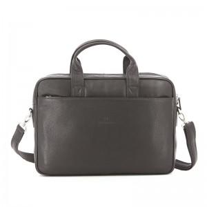 Pánská kožená taška přes rameno Hexagona Tango - tmavě hnědá