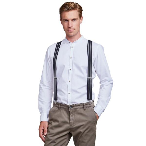 Pánské trendy šle (kšandy) Lerros Artur -černo-bílá