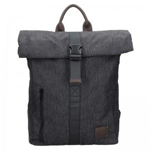 Pánský vintage batoh Lerros David - černá