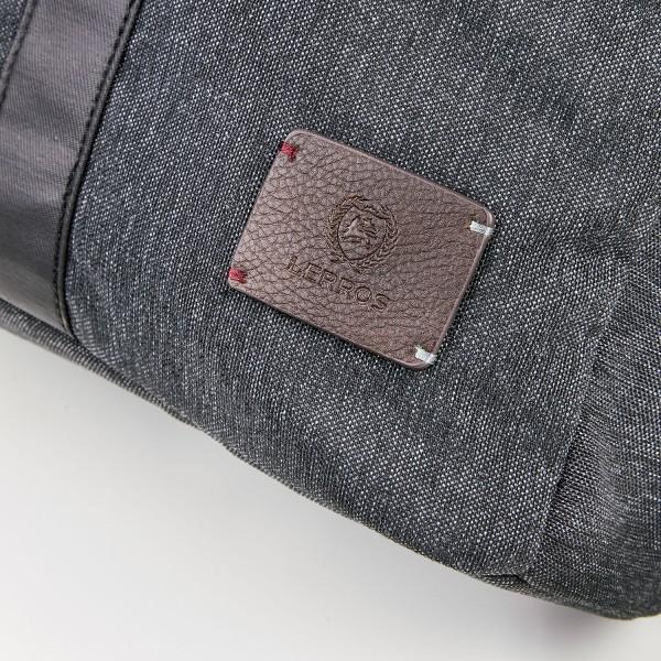 Pánský vintage batoh Lerros Uban - černo-šedá