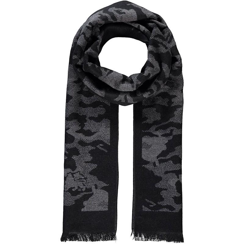 Elegantní pánská šála Lerros Army- černá 8cfdd8e786
