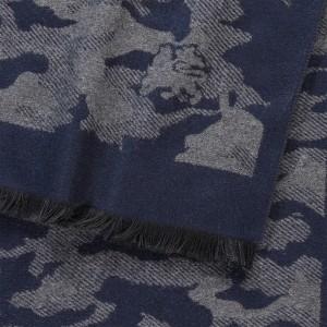 Elegantní pánská šála Lerros Army- černá
