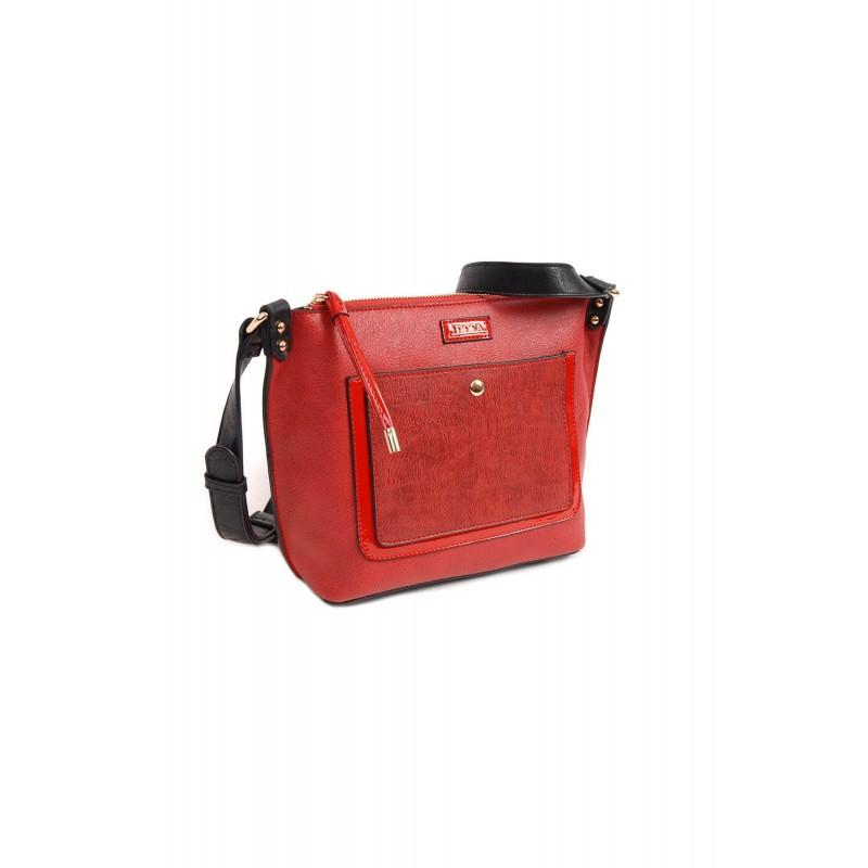 Dámská crossbody kabelka Doca 13949 - červená 0c1bb40cb3d