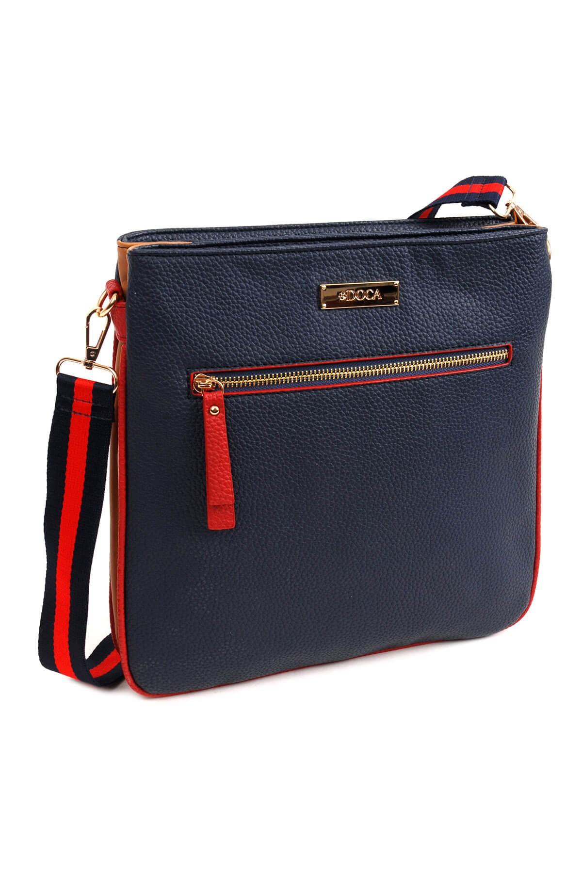 Dámská crossbody kabelka Doca 14108 - modrá 7e7b053381d
