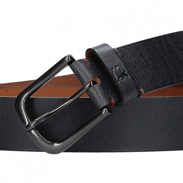 Kožený pánský opasek Lerros Milan - černá
