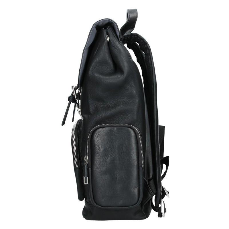 Kožený pánský batoh Bugatti Venus - černá