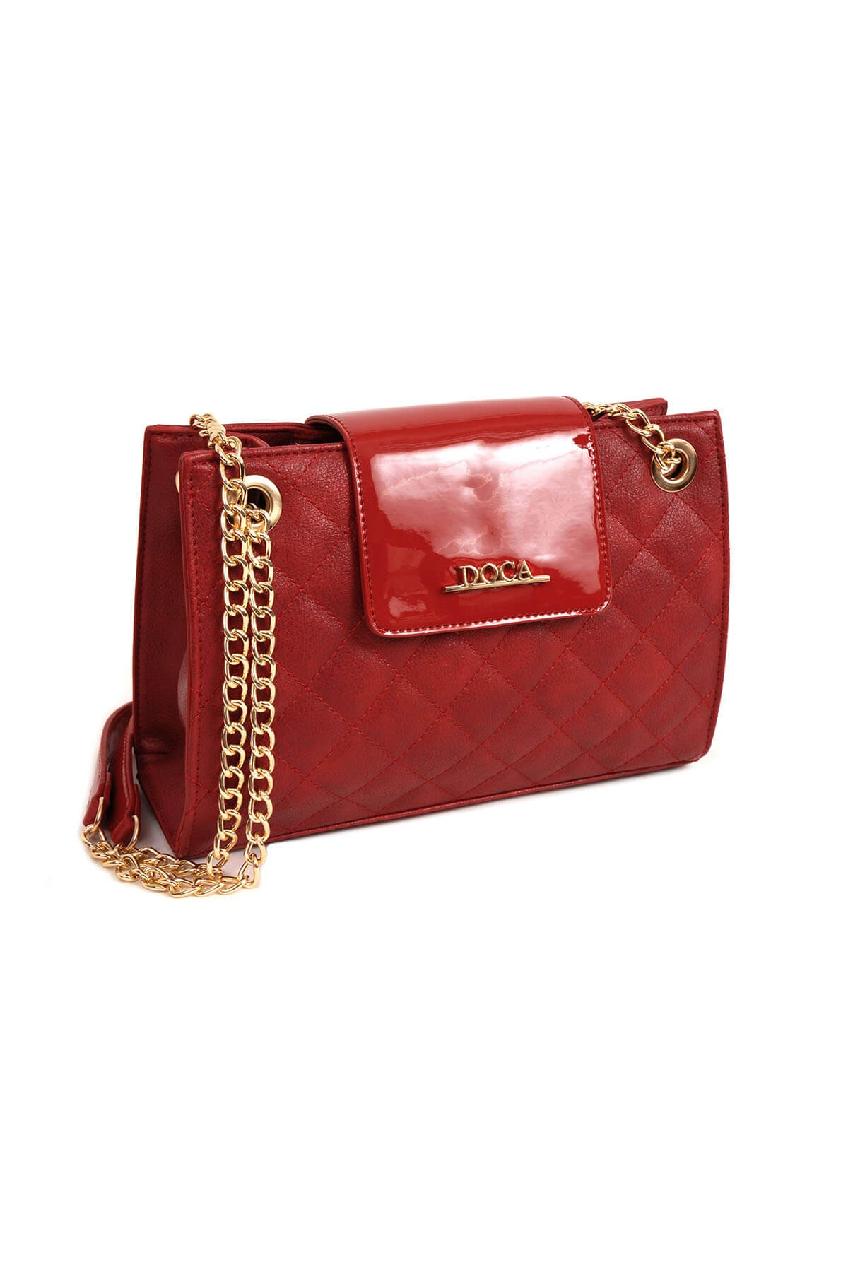 Dámská crossbody kabelka Doca 14155 - červená ab3a5e3c6a7