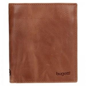 Pánská kožená peněženka Bugatti Juan - hnědá