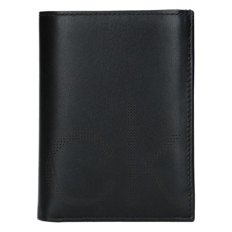 Pánská kožená peněženka Calvin Klein Manuel - černá