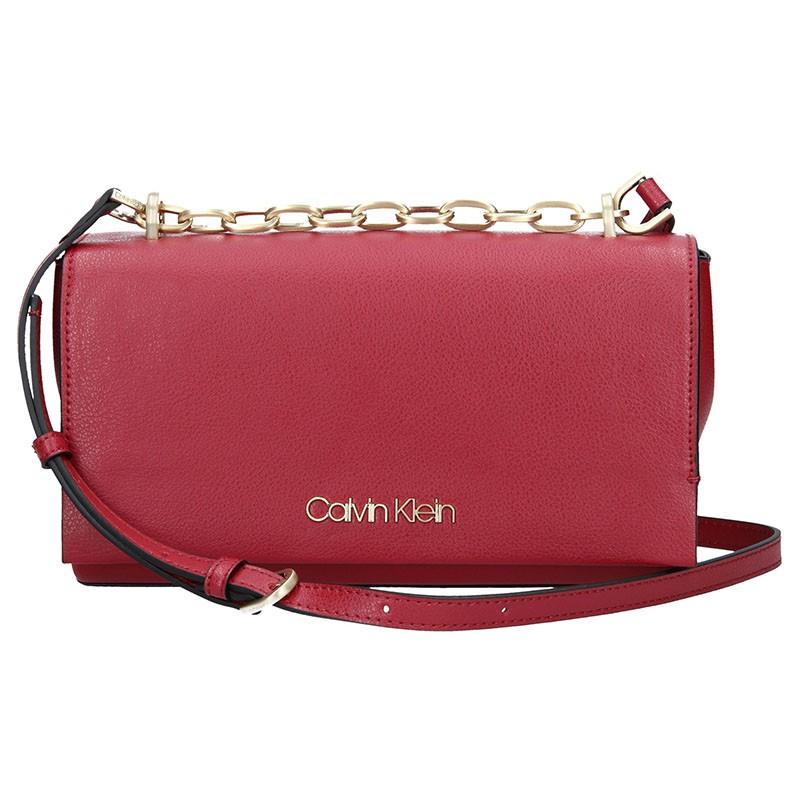 Dámská crossbody kabelka Calvin Klein Romana - vínová