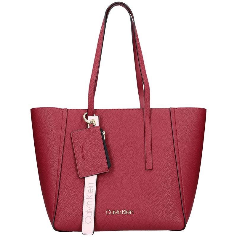 Dámská kabelka Calvin Klein Tinna - vínová