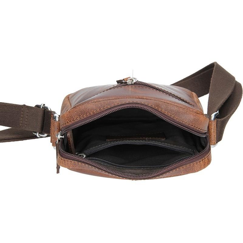 Pánská kožená taška přes rameno Bugatti Segno - hnědá