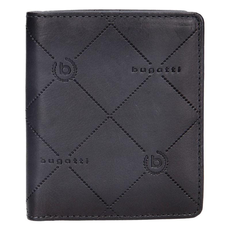 Pánská kožená peněženka Bugatti Heinrich - černo-šedá