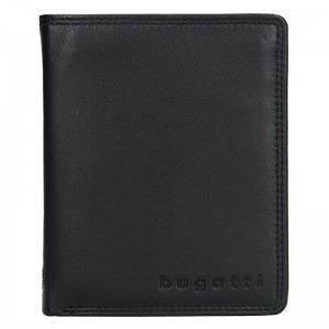 Pánská kožená peněženka Bugatti Otto - černá