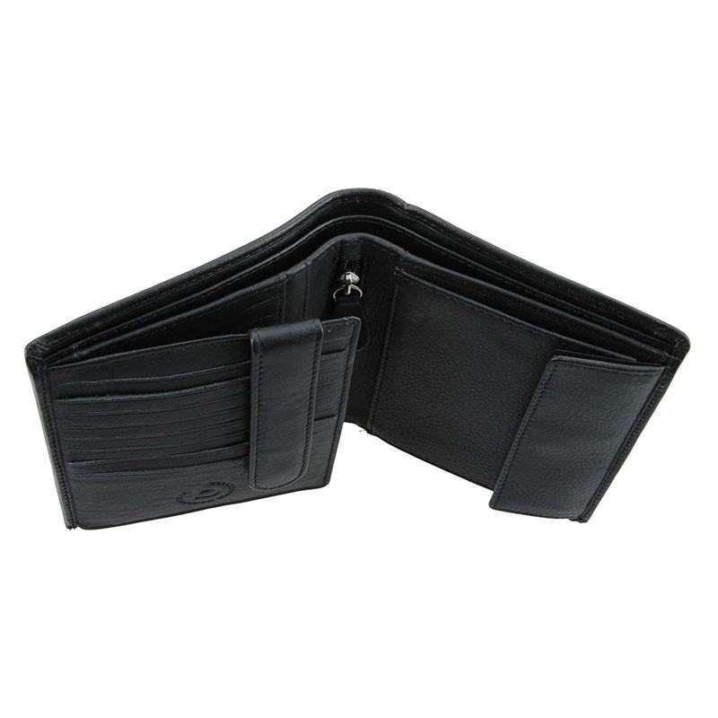 Pánská kožená peněženka Bugatti Fritz - černá