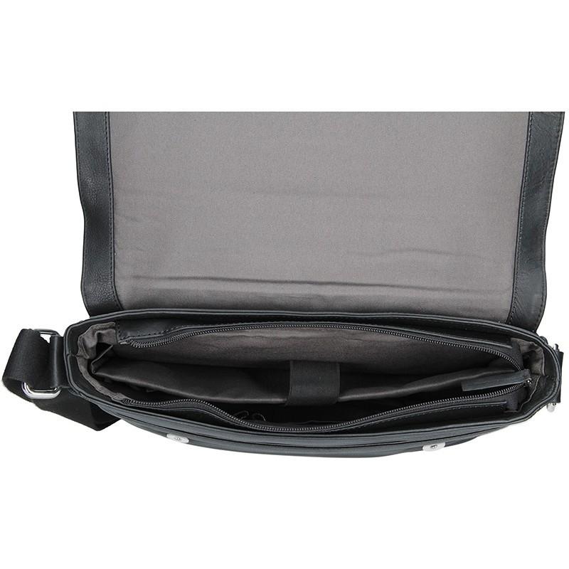 Pánská kožená taška přes rameno Bugatti Olav - černá